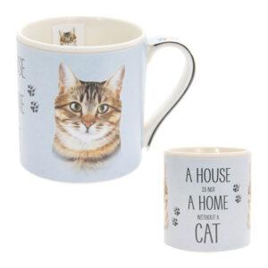 Tazza in ceramica con gatto tigrato