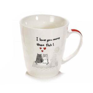 Tazza in ceramica con gatti fidanzati