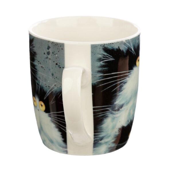 Tazza con gatti pazzi di Kim Haskins, lato
