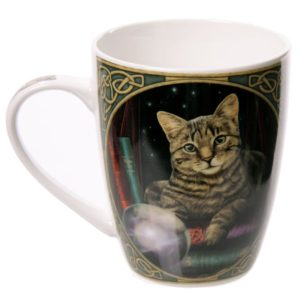 Tazza con gatto indovino disegnato da Lisa Parker