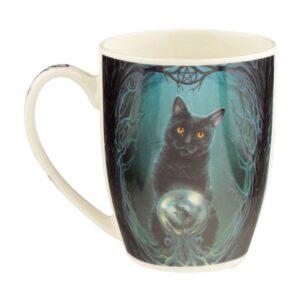 Tazza con gatto mago disegnato da Lisa Parker