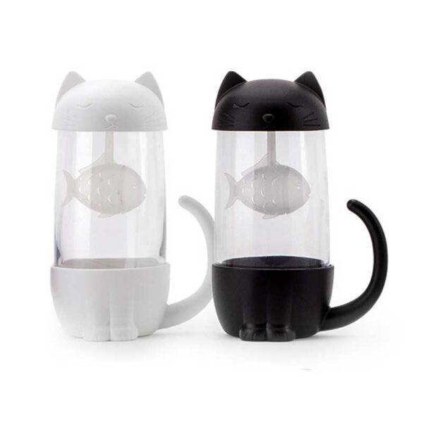 Tazza infusore da tè a forma di gatto