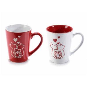 Tazze gatti innamorati di San Valentino, set completo