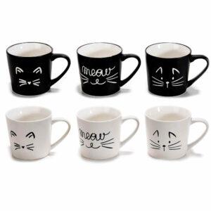 Tazzine da caffè con decori gatto