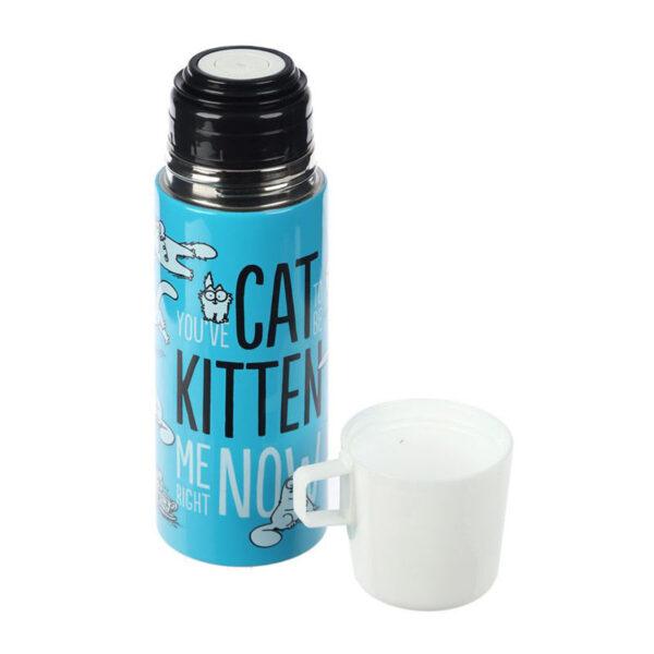 Thermos con tazza gatto Simon's Cat, smontato