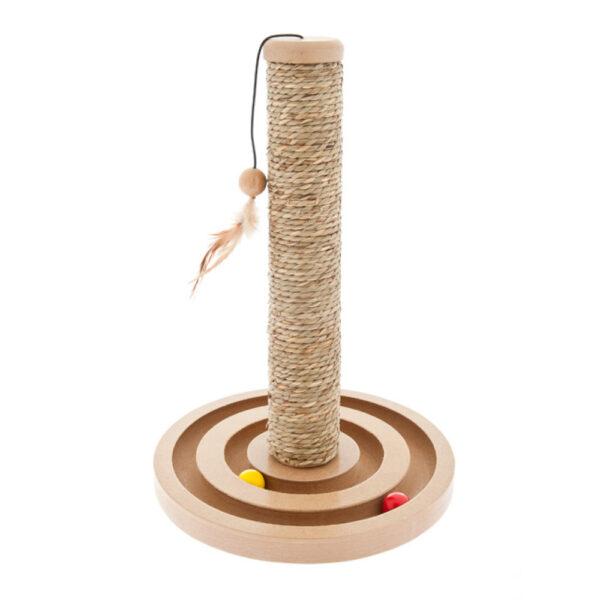 Tiragraffi in legno con puzzle di palline