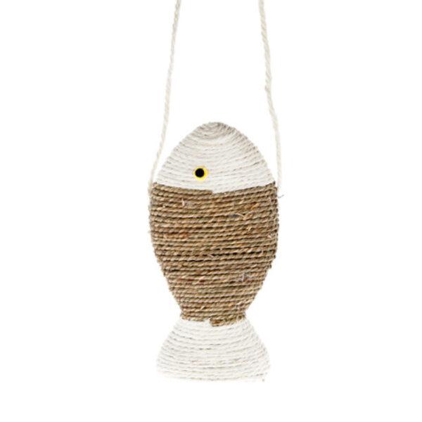 Tiragraffi a sospensione pesciolino in corda