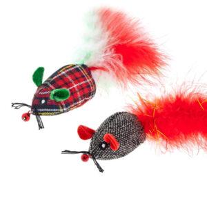 Topolini festivi natalizi giochi per gatti