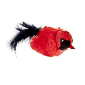 Uccellino rosso Cip Cip sonoro gioco per gatti
