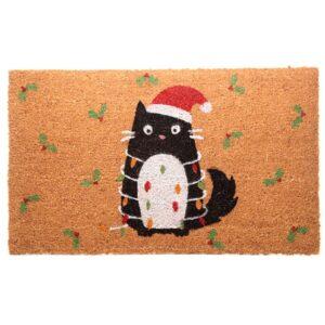 Zerbino natalizio con gatto nero